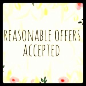 All reasonable offers considered!😀